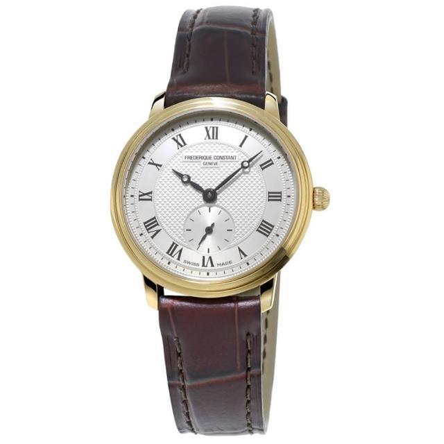 【康斯登 CONSTAN】SLIMLINE超薄系列小秒針女腕錶(FC-235M1S5)