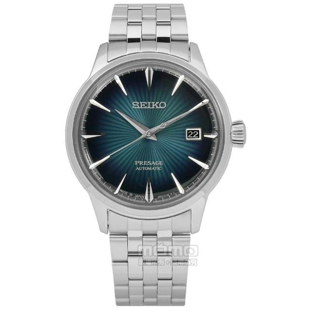 【SEIKO 精工】★贈皮錶帶/ PRESAGE 現代品味機械不鏽鋼手錶 深綠色 40mm(4R35-01T0A.SRPB41J1)