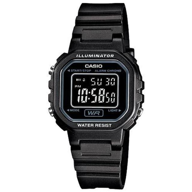 【CASIO】小巧方形復古數位錶(LA-20WH-1B)