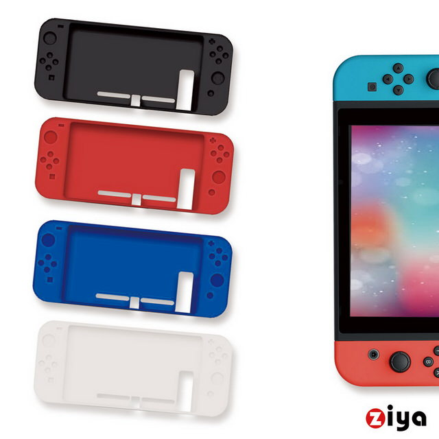 【ZIYA】Nintendo Switch 主機矽膠保護套(炫彩系列)
