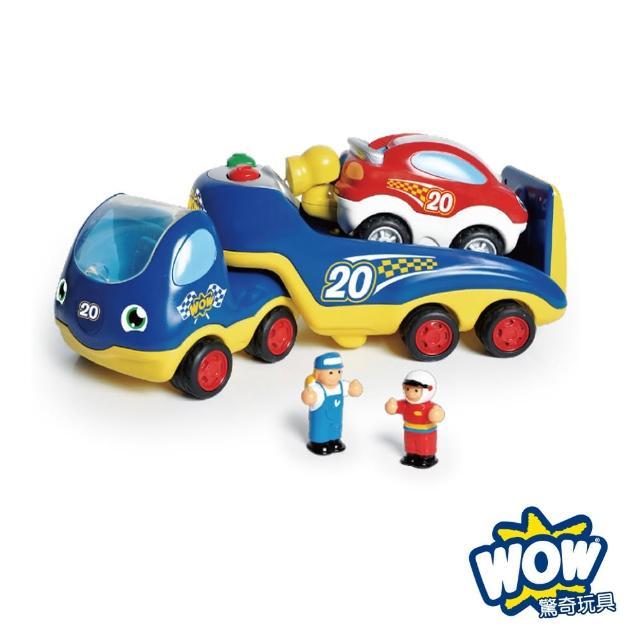 【英國驚奇玩具 WOW Toys】賽車救援拖吊車 洛可