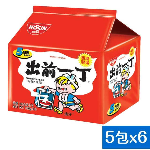 【日清】出前一丁麻油味速食麵100gX30入(泡麵)