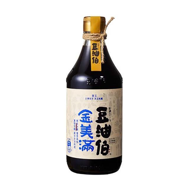 【豆油伯】金美滿醬油-無添加糖500ml(沾/拌 100%純釀造 滷/紅燒/醃漬)