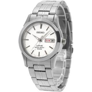【SEIKO】經典藍寶石水晶鏡面鋼帶錶-白/35mm(7N43-0AR0S SGG713J1)