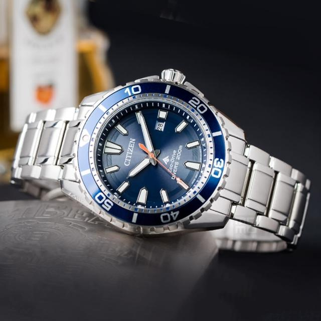 【CITIZEN 星辰】Eco-Drive 藍水鬼時尚光動能運動腕錶(BN0191-80L)