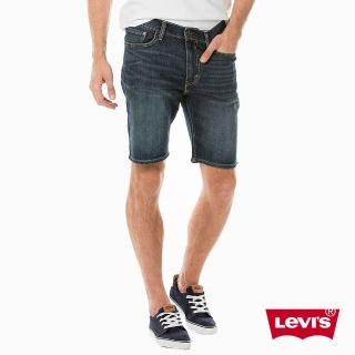 【Levis】牛仔短褲 男裝 / 505 中腰標準直筒 / 深藍水洗