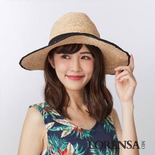 【Lorensa蘿芮】率性風格個性拉菲亞草手編大帽簷遮陽草帽