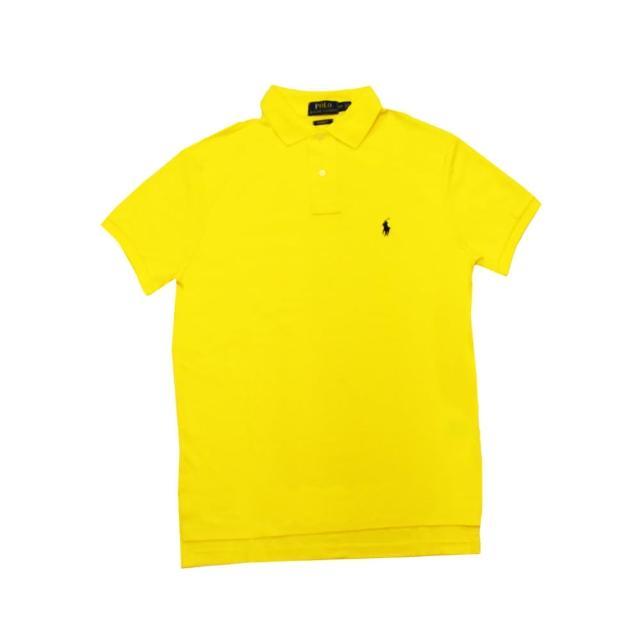 【US POLO】小馬球經典戰馬短袖POLO衫-黃/黑(美國時尚品牌服飾)