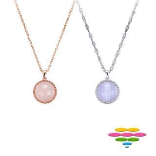 【彩糖鑽工坊】14K白 紫瑪瑙寶石項鍊(CL-PD200)