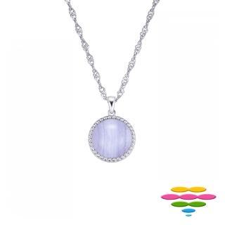 【彩糖鑽工坊】10K白 紫瑪瑙寶石項鍊(CL-PD200)