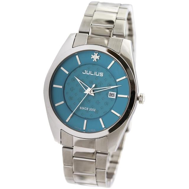 【JULIUS】都市品味簡約指針日期不鏽鋼錶帶腕錶(二色/40mm)