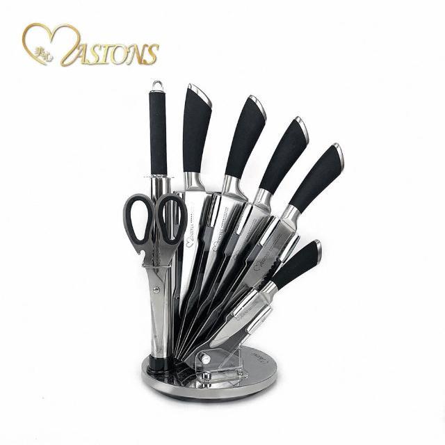 【美心 MASIONS】德國鋼材-頂級不鏽鋼刀具(8件組)