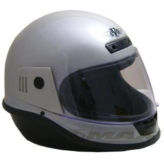 【EVO】全罩式安全帽-銀色+(6入不織布內襯套)