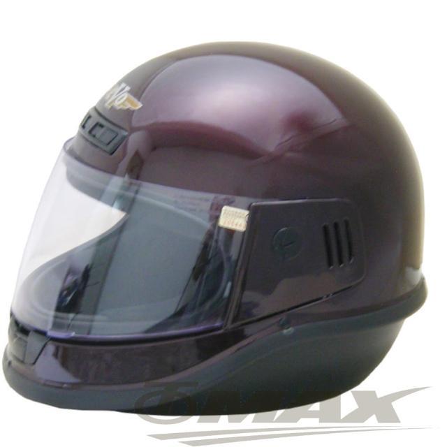 【EVO】全罩式安全帽-酒紅色+(6入不織布內襯套-12H)