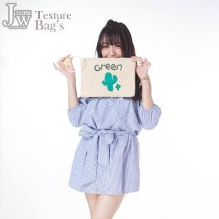 【JW】沙漠小巨人仙人掌藤麻編織手拿包(共2色)