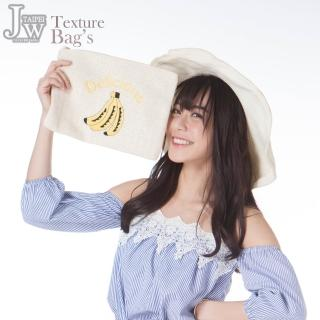 【JW】美味香蕉藤麻編織手拿包(共2色)