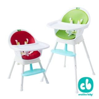 【美國 Creative Baby】最新改款 三合一成長型寶寶大餐椅(綠色/紅色)