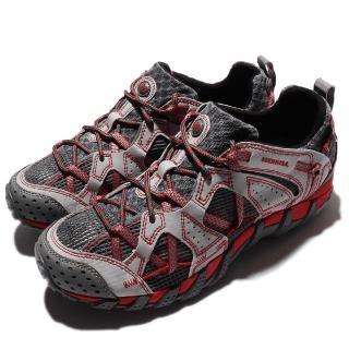 【MERRELL】戶外鞋 Waterpro Maipo 男鞋 越野 排水 透氣 Vibram 避震 灰 紅 女(ML02341)