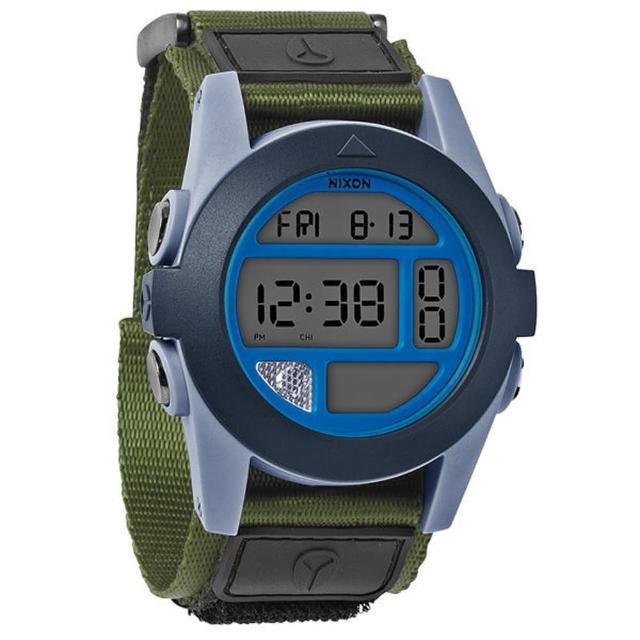 【NIXON】The BAJA 核心啟程多功能概念運動錶-灰藍綠(NXA4891376)