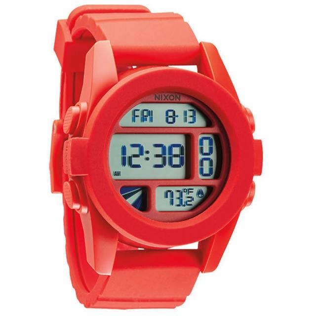 【NIXON】The UNIT率性概念雙時區運動錶-紅(NXA197383)
