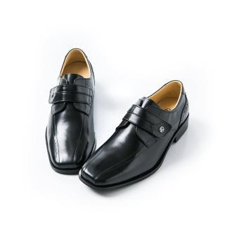 【ALAIN DELON】時尚名流百搭紳士皮鞋A16002(1色 黑色)
