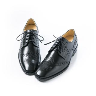 【ALAIN DELON】時尚名流百搭紳士皮鞋A16003(1色 黑色)