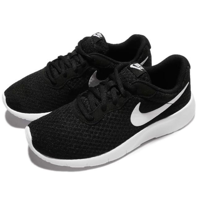 【NIKE】休閒鞋 Tanjun GS 復古 運動 女鞋 低筒 慢跑 穿搭推薦 輕量 女 黑 白(818381-011)