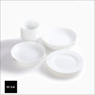 【HOLA】HOLA 緻白骨瓷18件餐具組