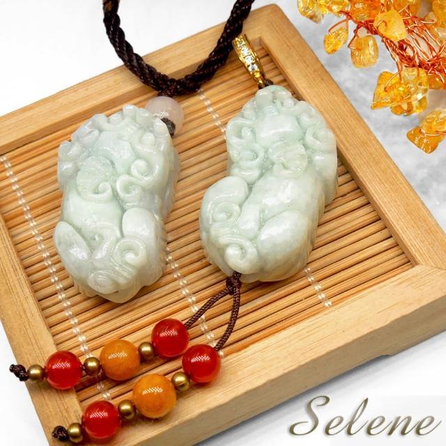 【Selene珠寶】財源滾滾翡翠貔貅項鍊(A貨翡翠)