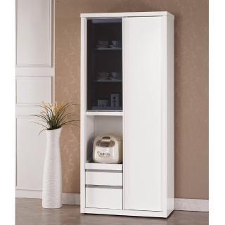 【顛覆設計】琳洛卡2.6尺高推門收納櫃/電器櫃