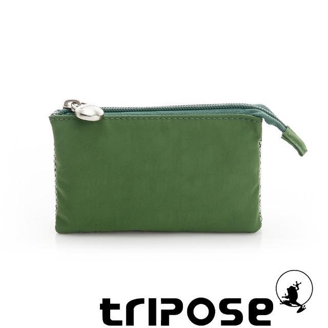 【tripose】漫遊系列岩紋簡約微旅萬用零錢包(淺綠)