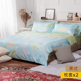【HOLA】HOLA home 狂想侏儸紀木棉絲防?抗菌枕套2入