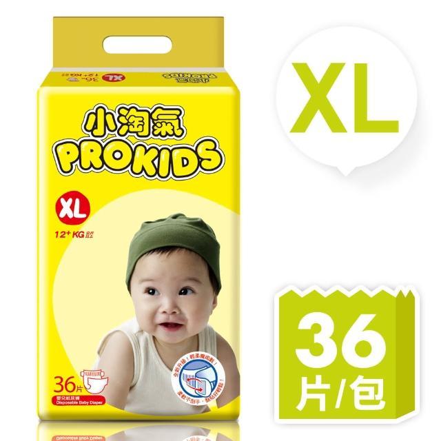 小淘氣透氣乾爽嬰幼兒紙尿褲XL36片