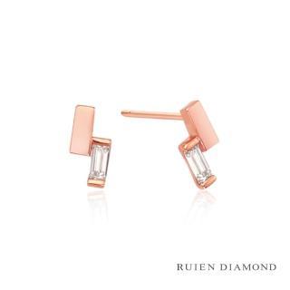 【RUIEN DIAMOND】韓國輕珠寶 飾品 配件(14K 玫瑰金 耳環 LE111)