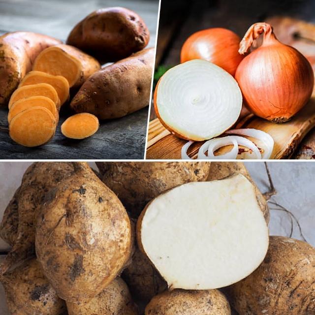 【鮮採家】小資家庭綜合蔬果箱D組(洋蔥+地瓜+豆仔薯)