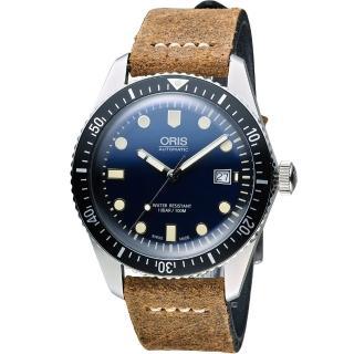 【Oris豪利時】Divers系列 Sixty-Five潛水機械腕錶(0173377204055-0752102)