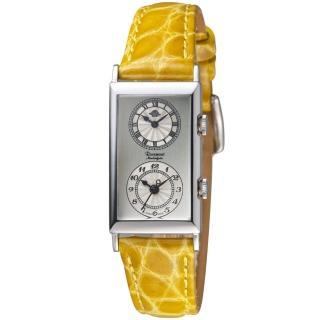 【玫瑰錶 Rosemont】雙時區典雅時尚腕錶(TN010-03-LMS)