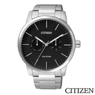 【CITIZEN星辰】Eco-Drive光動能黑色錶男仕手錶(AO9040-52E)