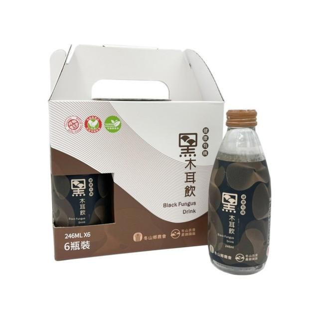 【冬山鄉農會】有機黑木耳飲禮盒組(245mlx6瓶)