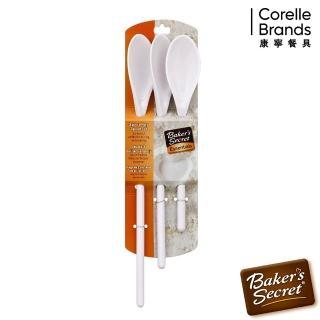 【美國康寧 BakersSecret】三件式多角湯匙組