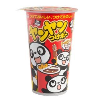 【明治】洋洋棒餅乾─巧克力口味附糖粒 48g(洋洋棒)