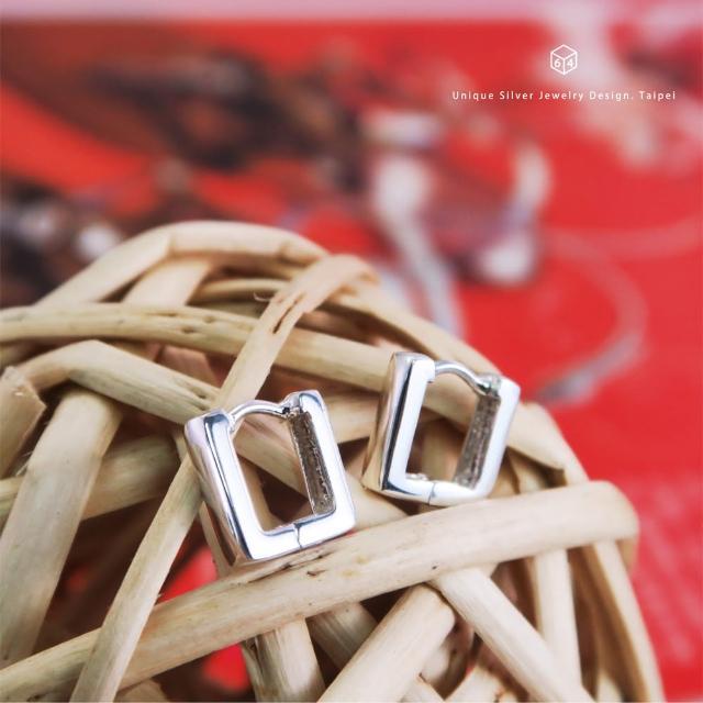 【ART64】易扣 圈式耳環 U型倒勾 方線 易扣式 純銀耳環