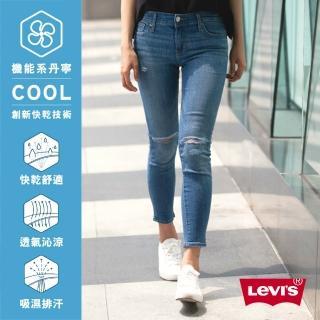 【Levis】亞洲版型 / 711 中腰緊身窄管牛仔褲 / 中彈力布料 / 刀割破壞(熱銷修身版型)