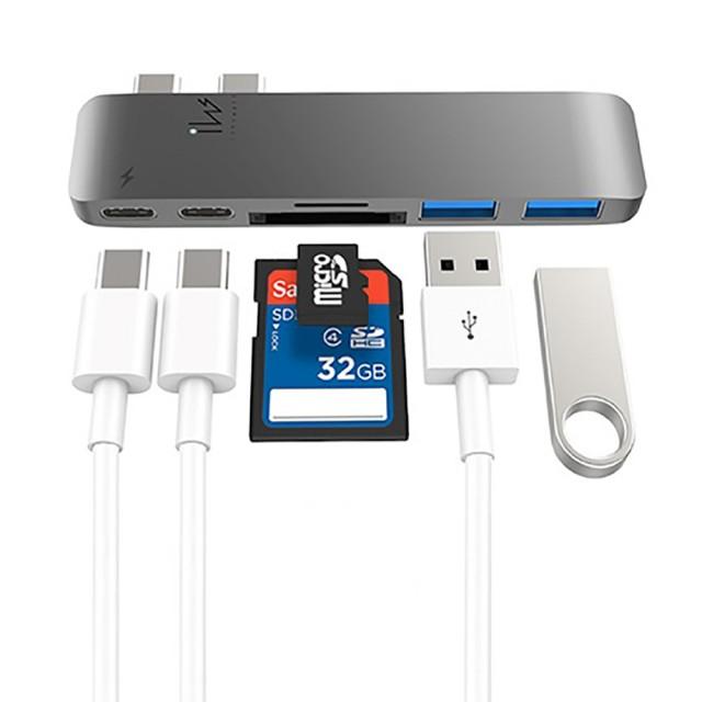 【Innowatt】USB 3.1 Type-C 多功能集線器 for MacBook Pro(送 MFi 蘋果認證線)