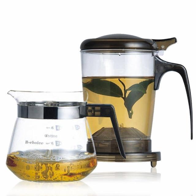 【丞漢】快速沖泡壺/咖啡兩用泡茶壺+玻璃小巧壺PC-500-1(玻璃杯)
