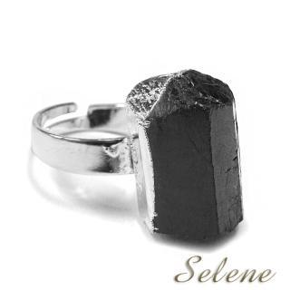 【Selene珠寶】神秘黑碧璽原礦戒(又名電氣石)