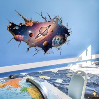 ~半島良品~DIY無痕 牆貼 壁貼~3D夢幻太空~SK9066B 無痕壁貼 牆貼 壁貼紙