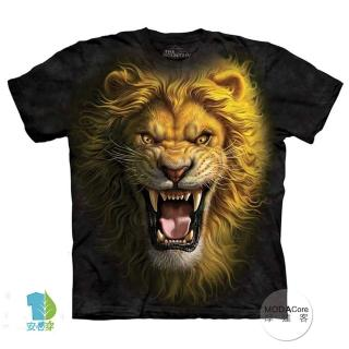 【摩達客】美國進口The Mountain 亞洲獅王 純棉環保短袖T恤(預購)