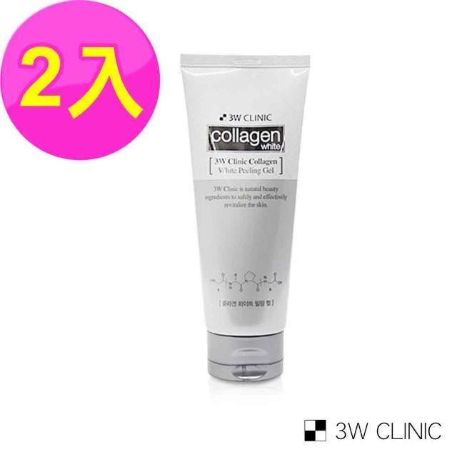 【韓國3W CLINIC】膠原嫩白去角質凝膠180mlX2入(溫和 嫩白 去角質)