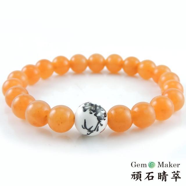 【GemMaker 頑石睛萃】黃東菱手工彩繪陶瓷手珠(17g)